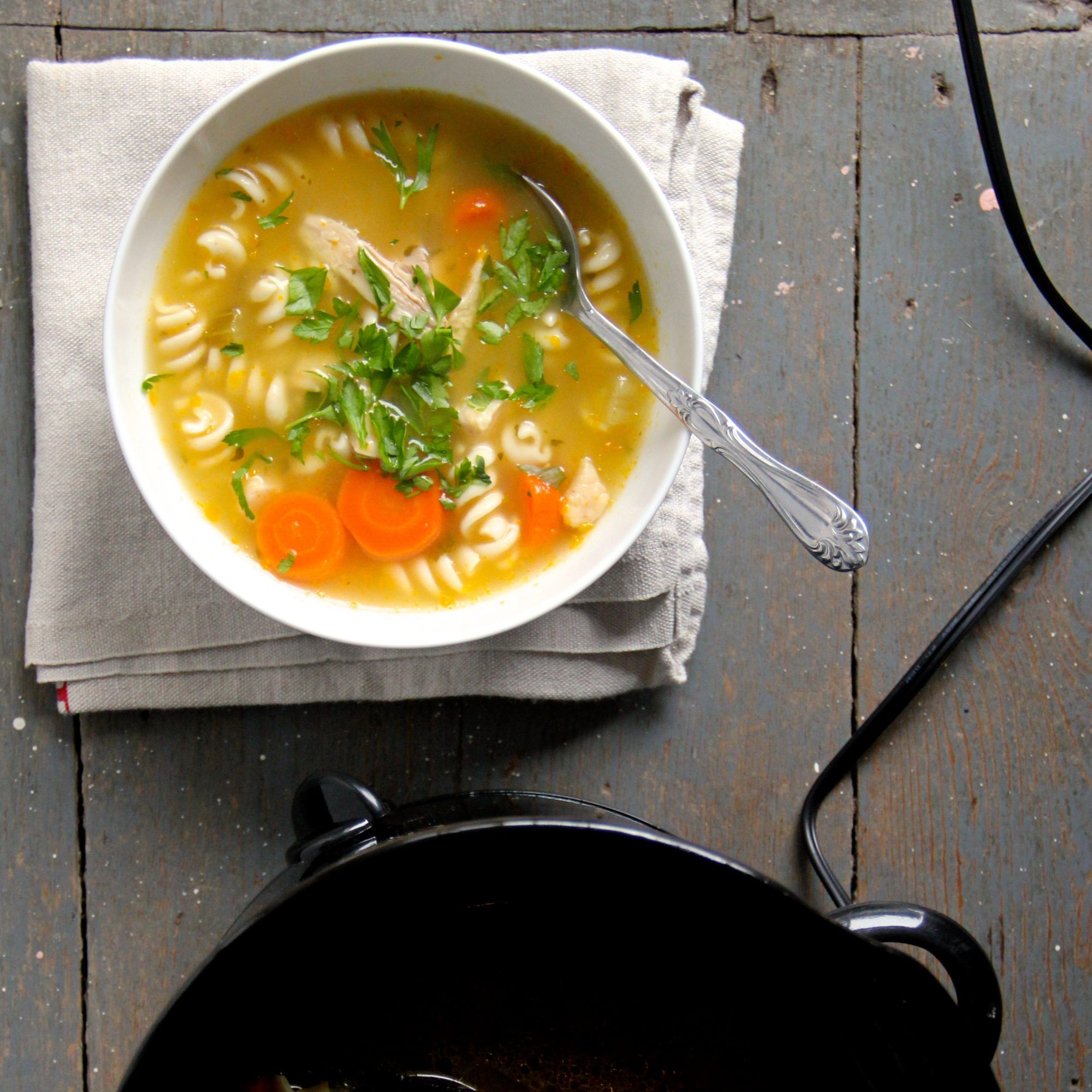 Slow Cooker Chicken Noodle Soup Recipe - Ian Knauer