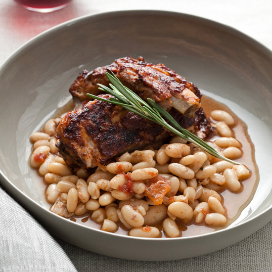 Slow Cooker Glazed Pork Ribs with White Beans