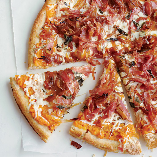 Sweet Potato, Balsamic Onion and Soppressata Pizza