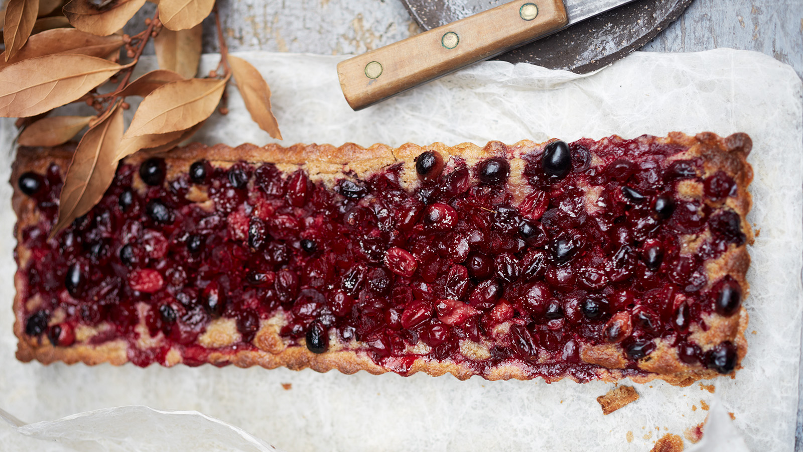 Cranberry-Walnut Tart with Buckwheat Crust