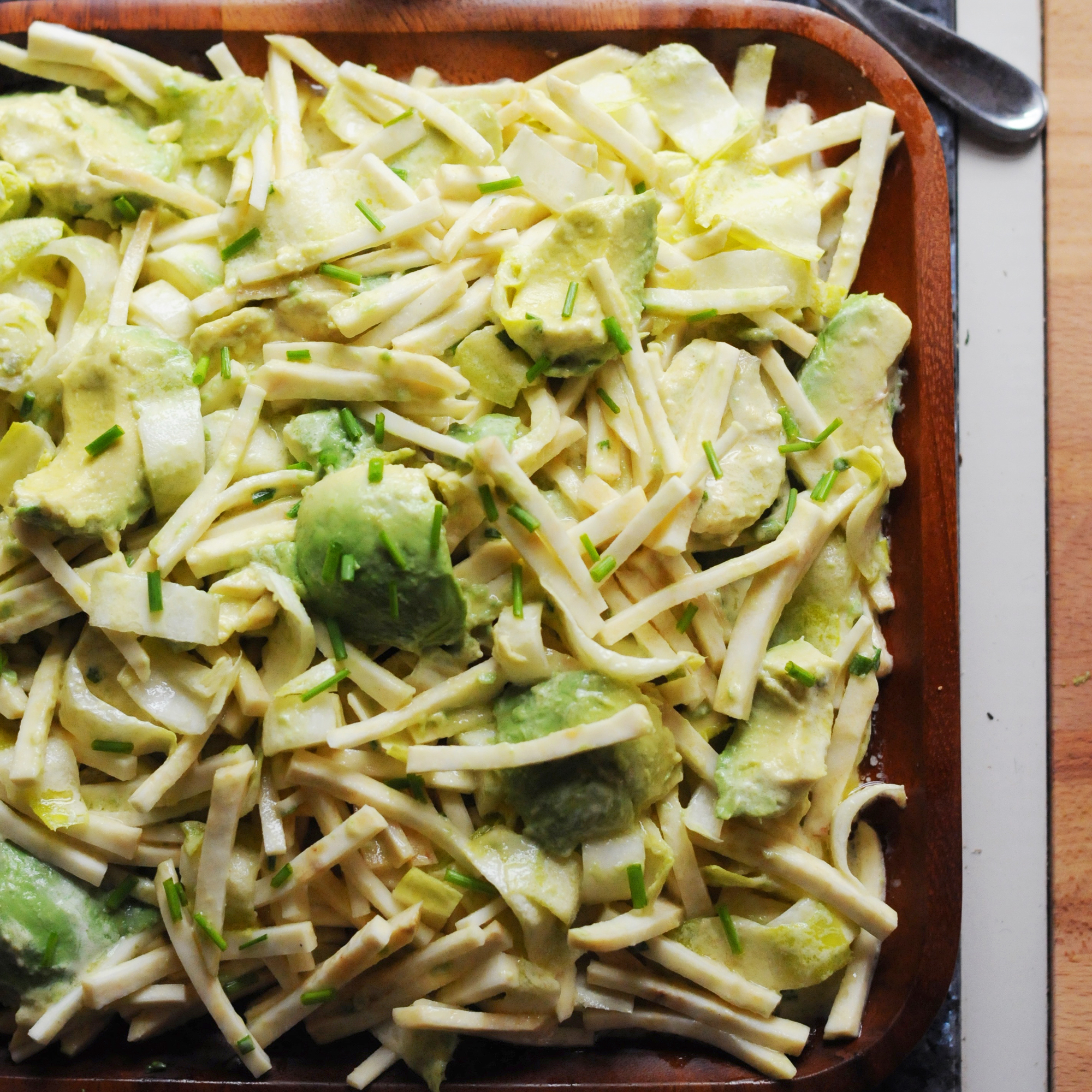 Endive, Celeriac and Avocado Salad