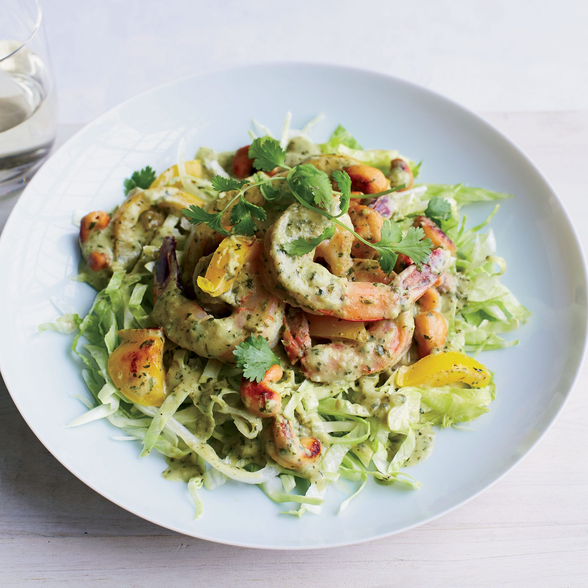 Green Curry Shrimp Lettuce Bowl