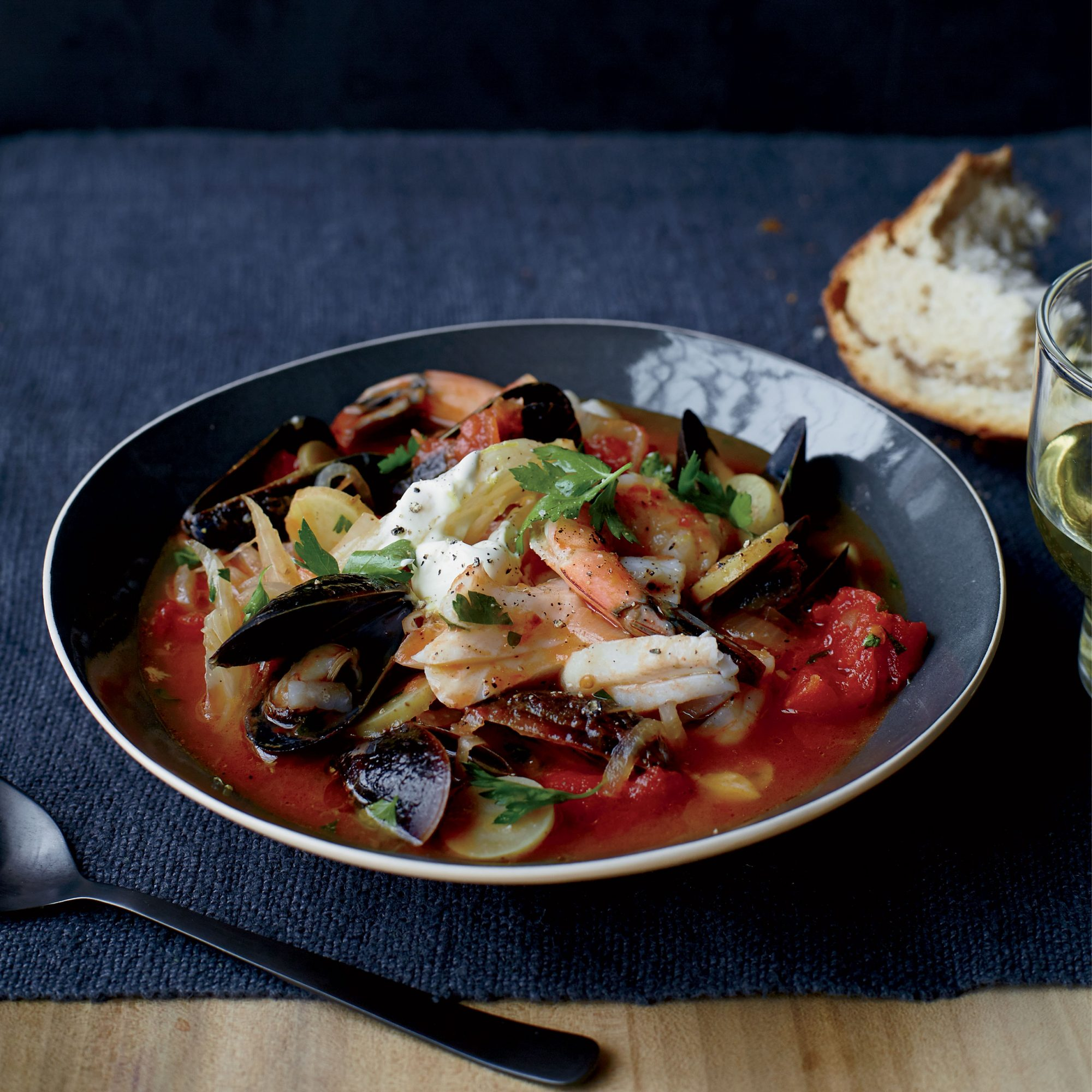 Seafood Tomato and Fennel Stew