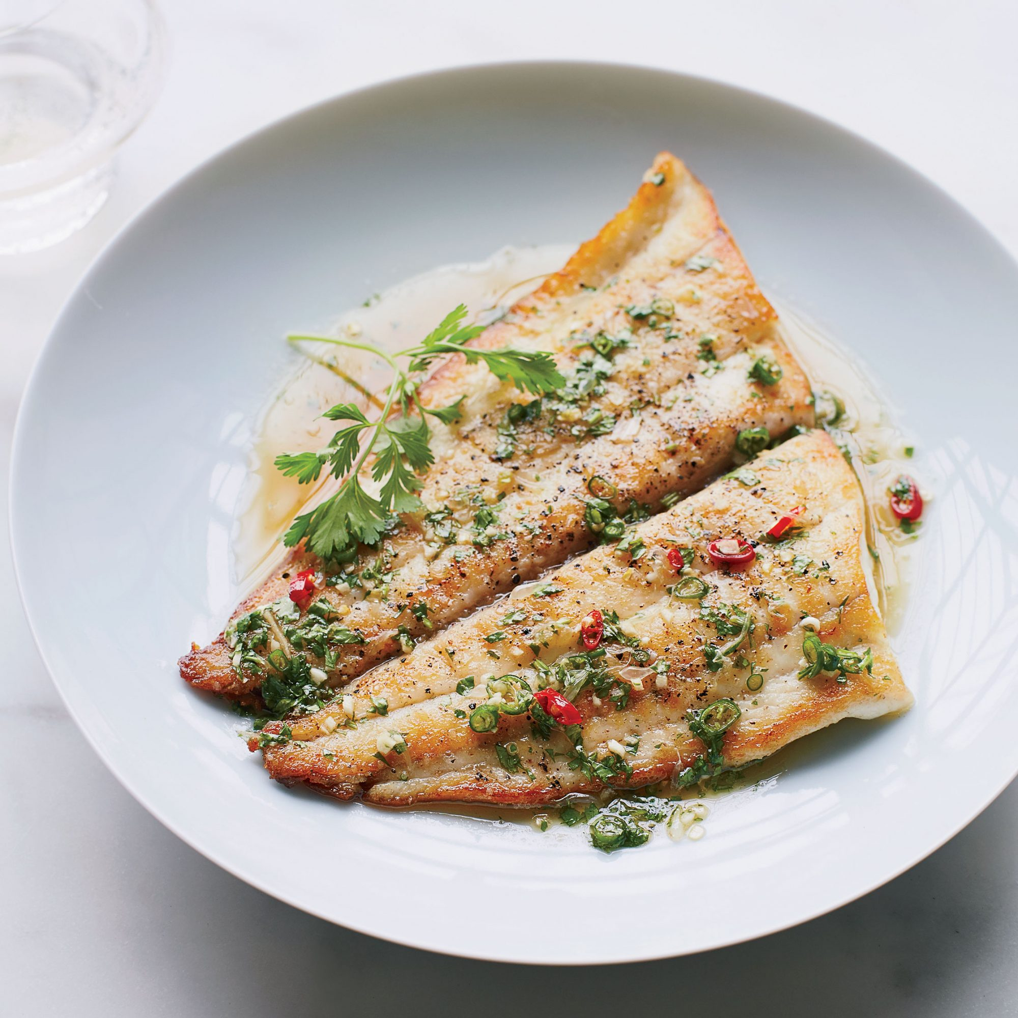 Seard Sole and Lime Sauce