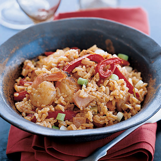 Creole Chicken and Ham Fried Rice