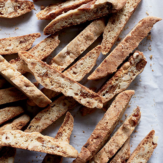 Buttery Hazelnut Fig Biscotti