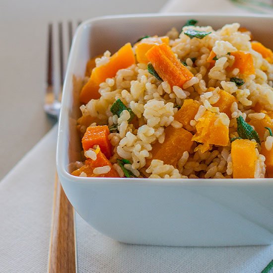 Butternut Brown Rice with Brown Butter and Sage