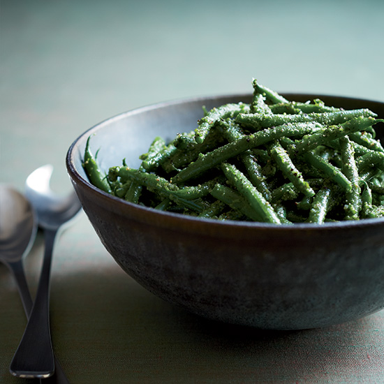 Green Beans with Parsley-Lemon Pesto