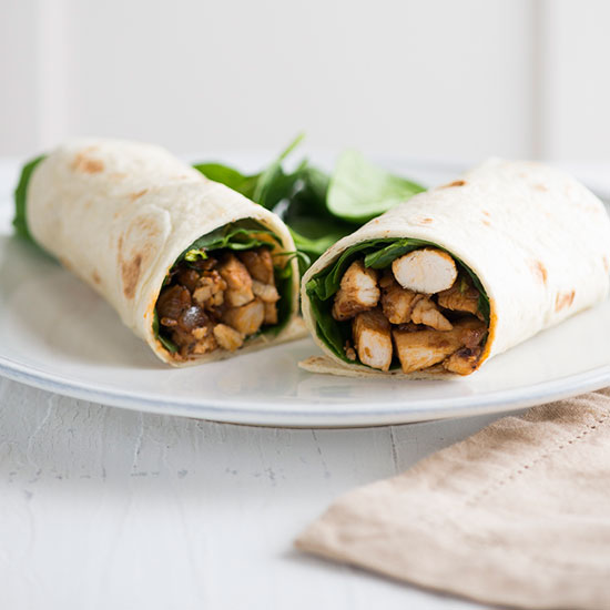 Chicken Burrito with Spinach