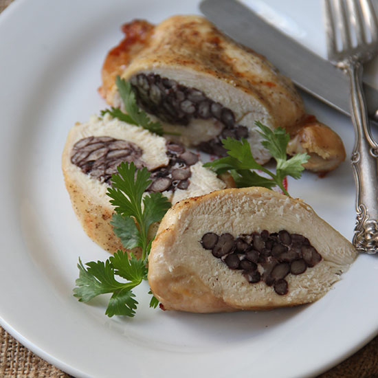 Black Bean Stuffed Chicken Breasts