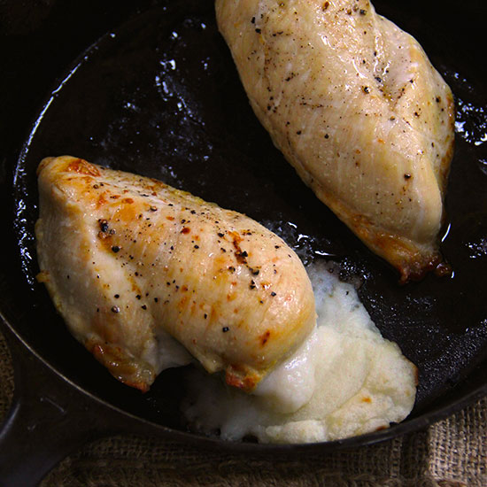 Mashed Potato Stuffed Chicken Breasts