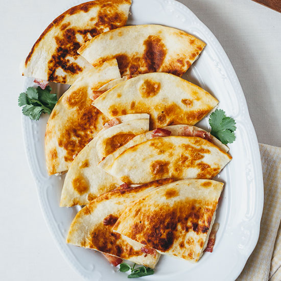 Smoked Gouda and Bacon Quesadillas