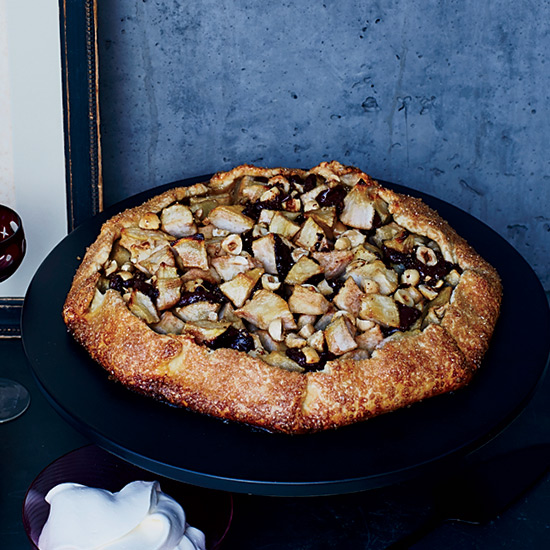 Dark Chocolate-Pear Galette