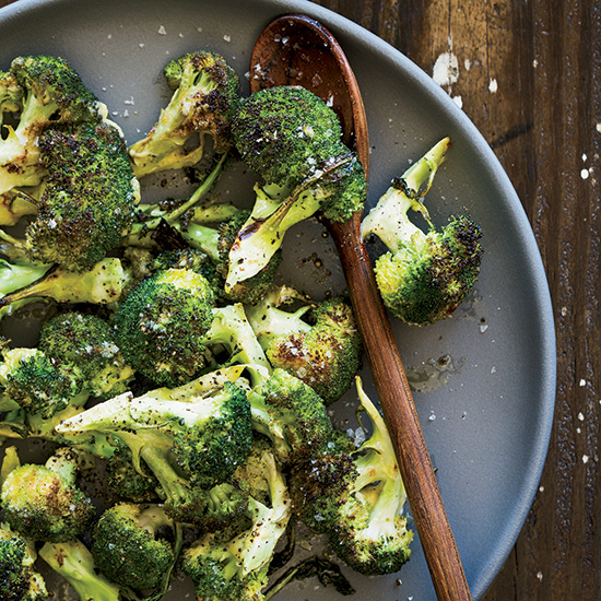 Aioli-Glazed Charred Broccoli