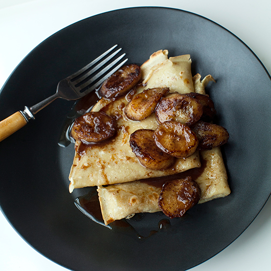 Crêpes with Spiced Butter-Fried Bananas