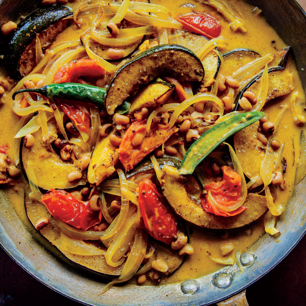 Squash and Black-Eyed Pea Coconut Curry