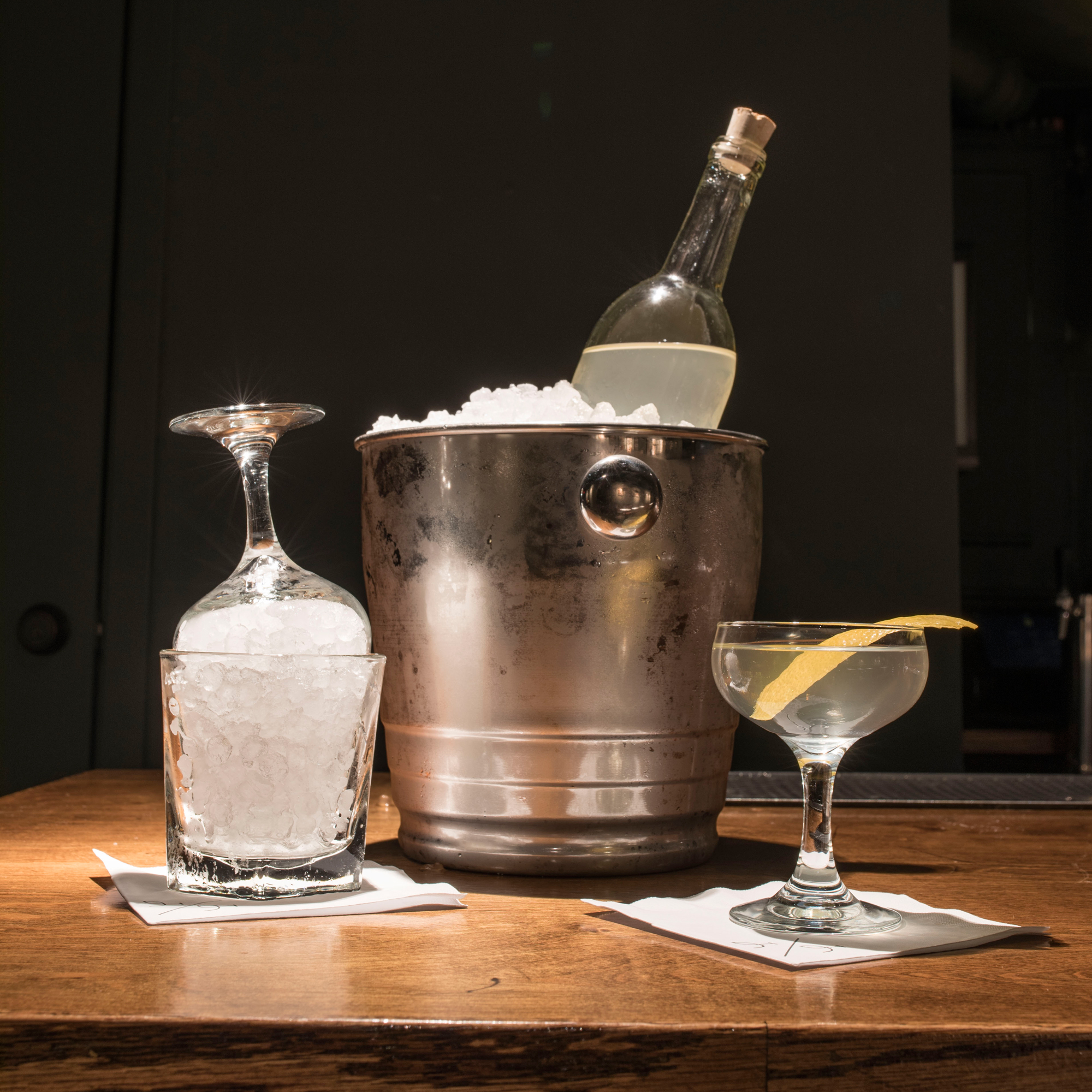 How to Make a Giant Bottled Martini for Your Holiday Party