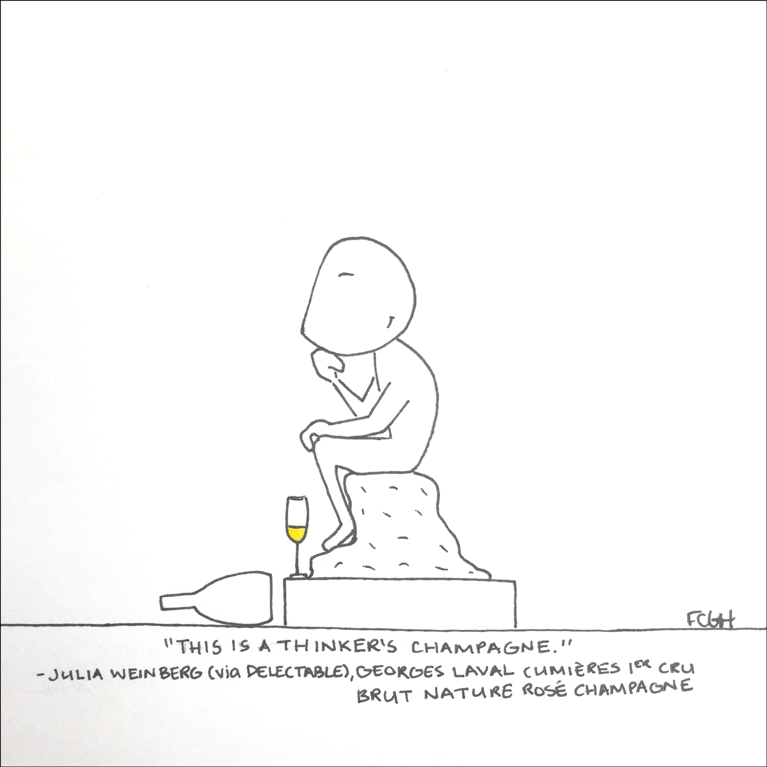 Wine Cartoons: 3 Top Champagnes for New Year's Eve