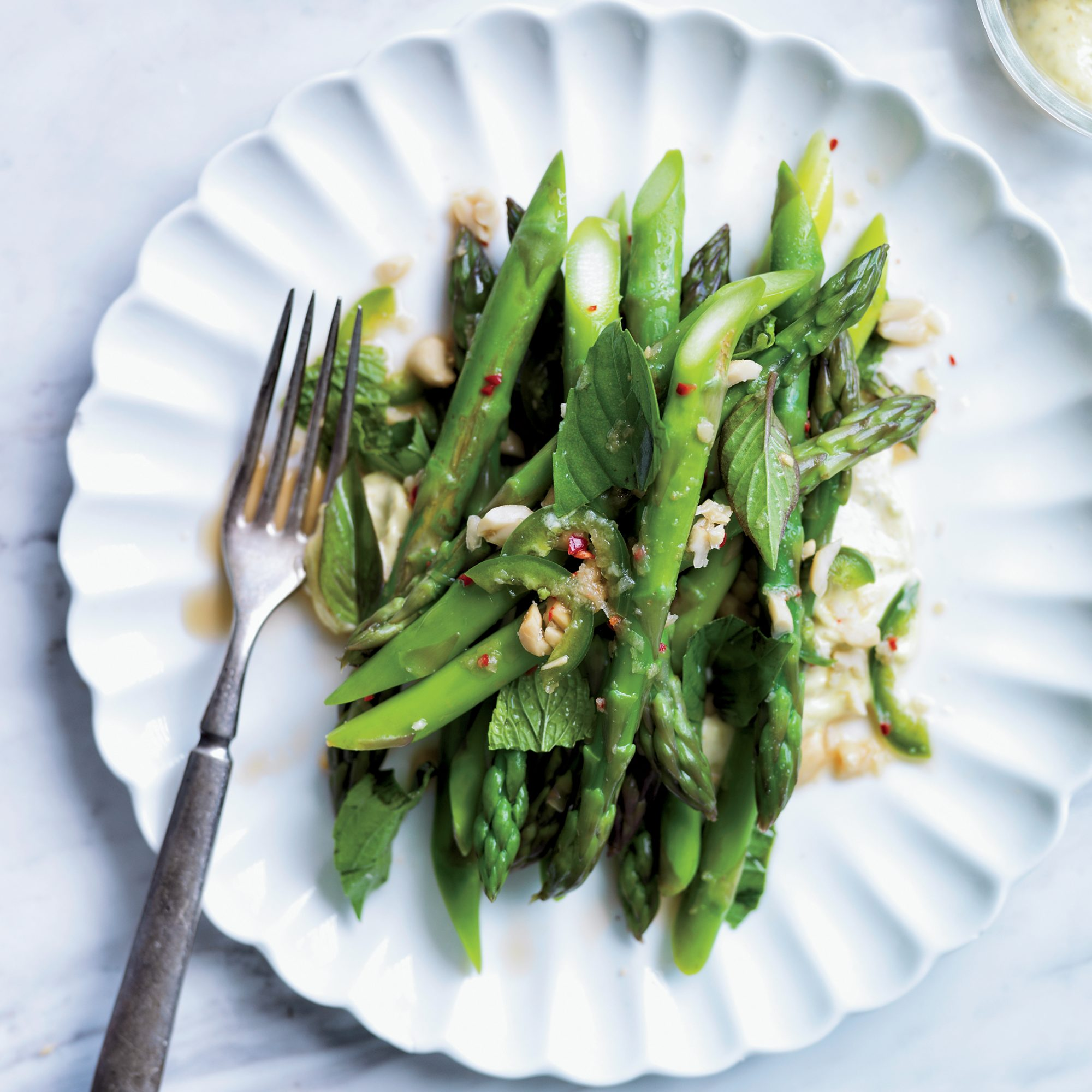 Asparagus Salad with Kaffir-Lime Curry and Peanuts