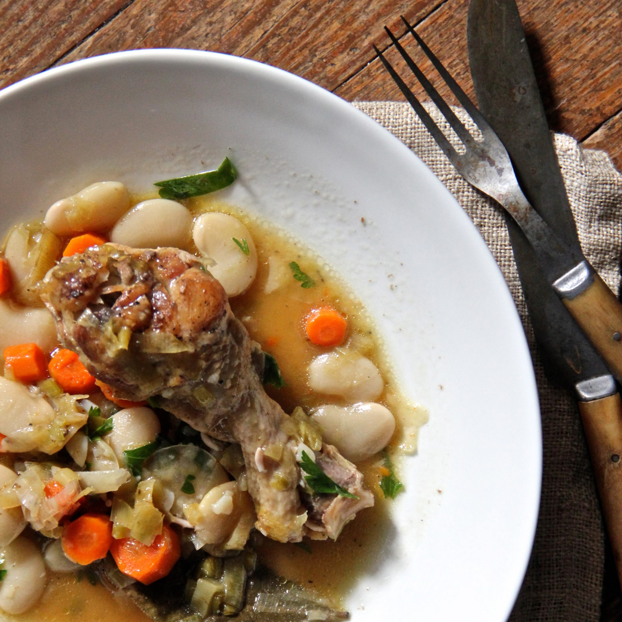 Chicken And White Bean Cassoulet Recipe Ian Knauer Food Amp Wine