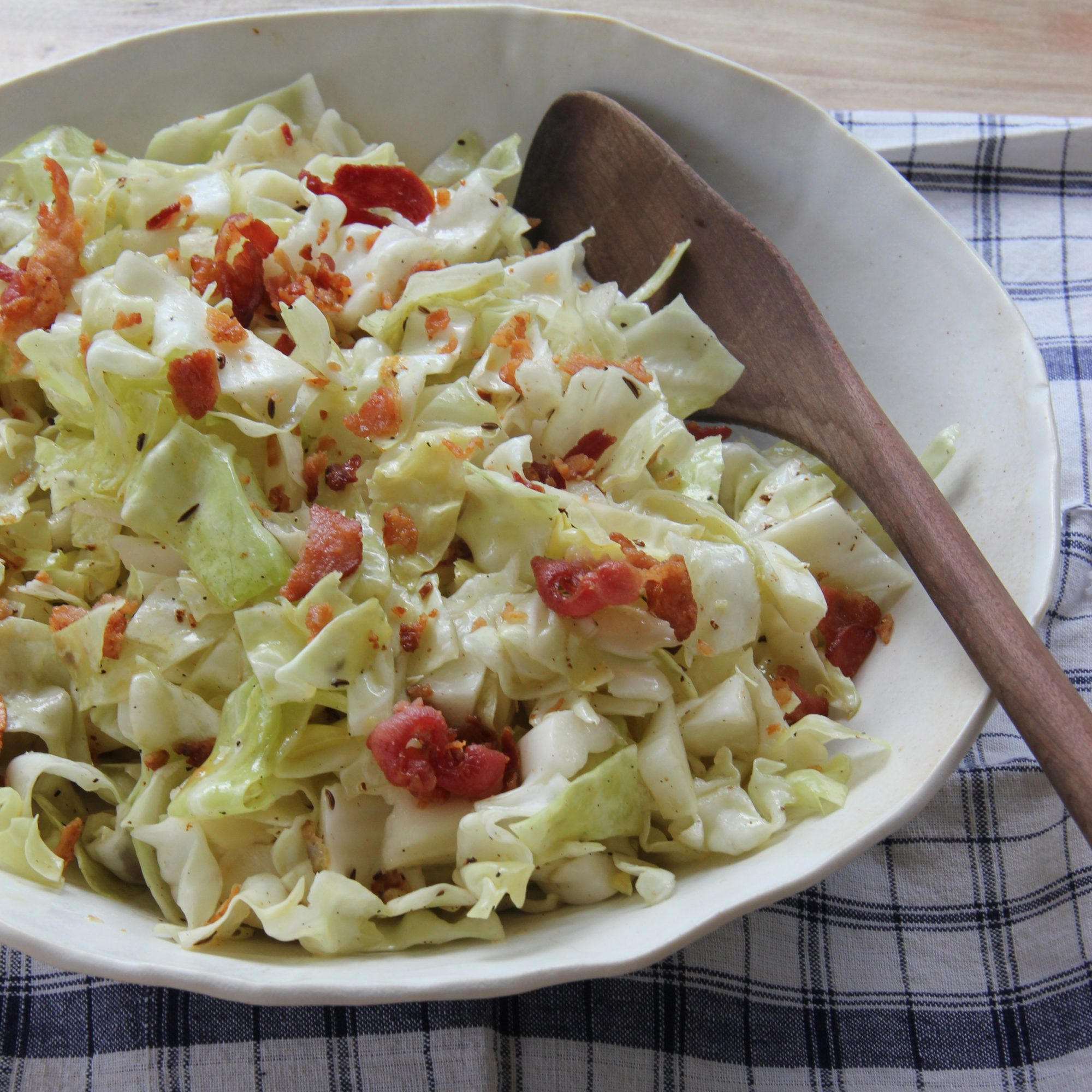 how to make boiled cabbage salad