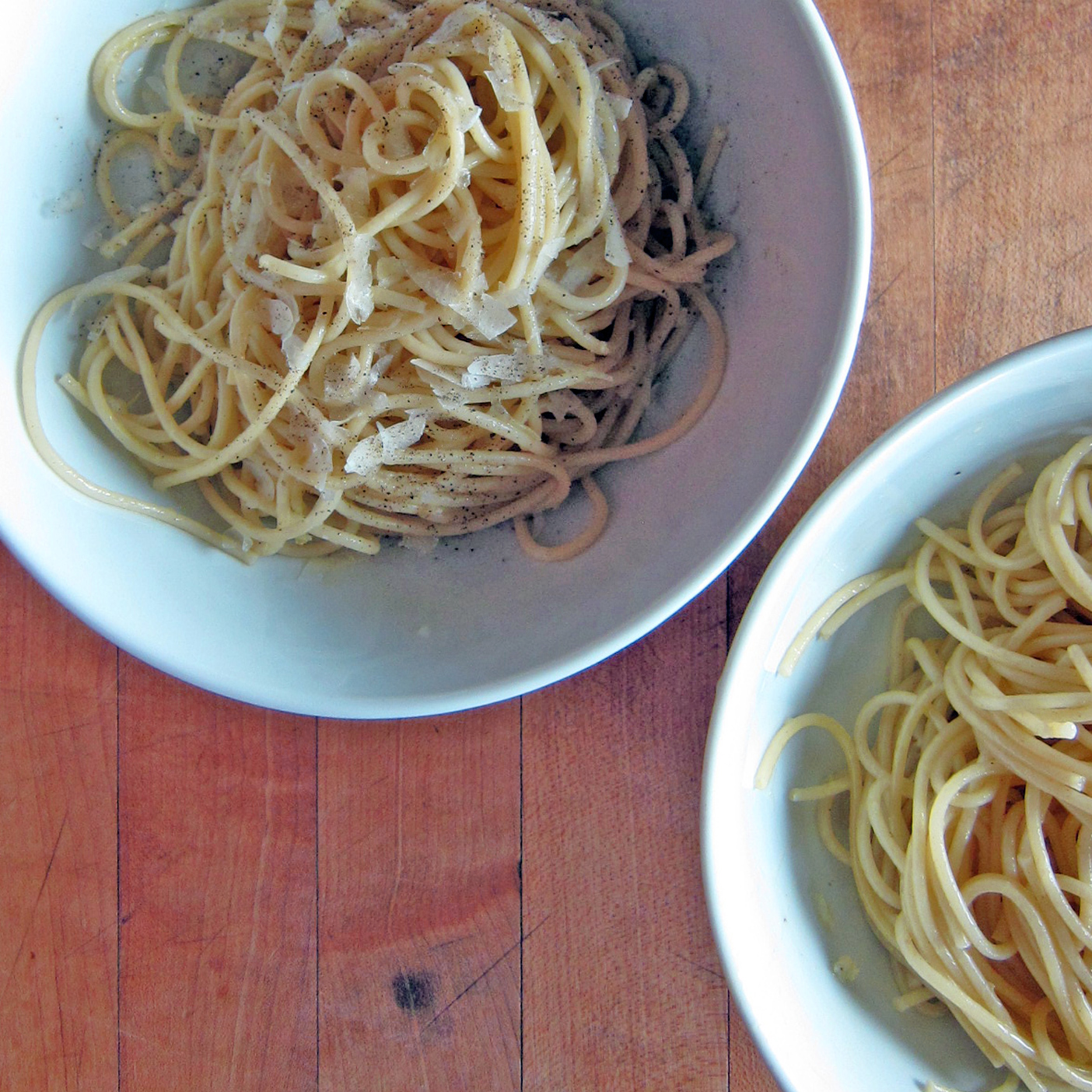 Spaghetti with Garlic and Parmesan