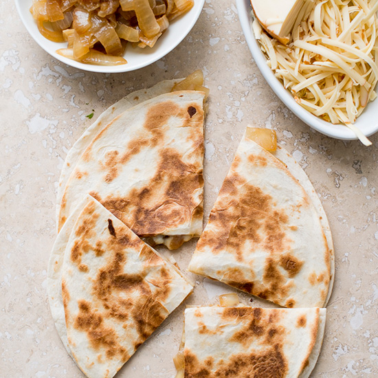 Smoked Gouda and Sweet Onion Quesadillas