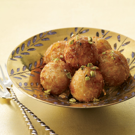 Fried Goat Cheese Balls with Honey