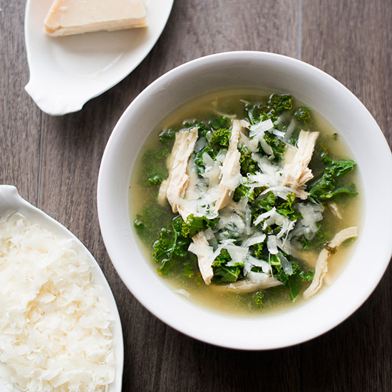 Lemon Chicken and Kale Soup