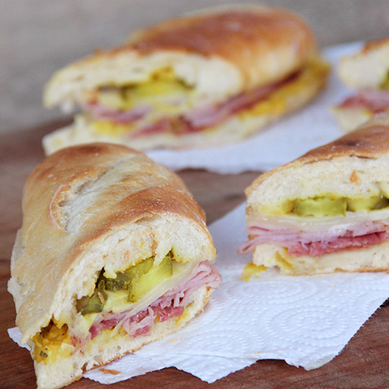 Cuban Sandwiches with Mango Mustard