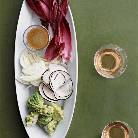 Creamy Anchoiade with Crudités
