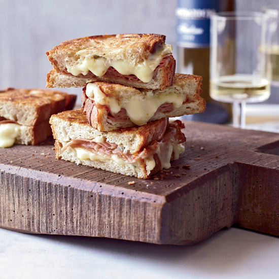 Mario Batali's Mortadella and Cheese Panini