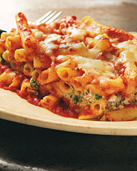 Baked Ziti with Pesto