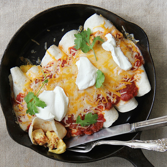 Breakfast Chicken Enchiladas