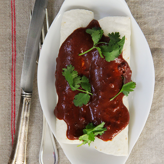 Mole Chicken Enchiladas
