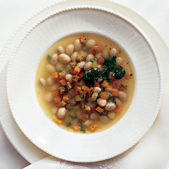 Fresh Shell Bean Soup with Pistou