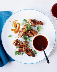 Global Grilled Chicken: Chicken Wings with Molasses Barbecue Sauce