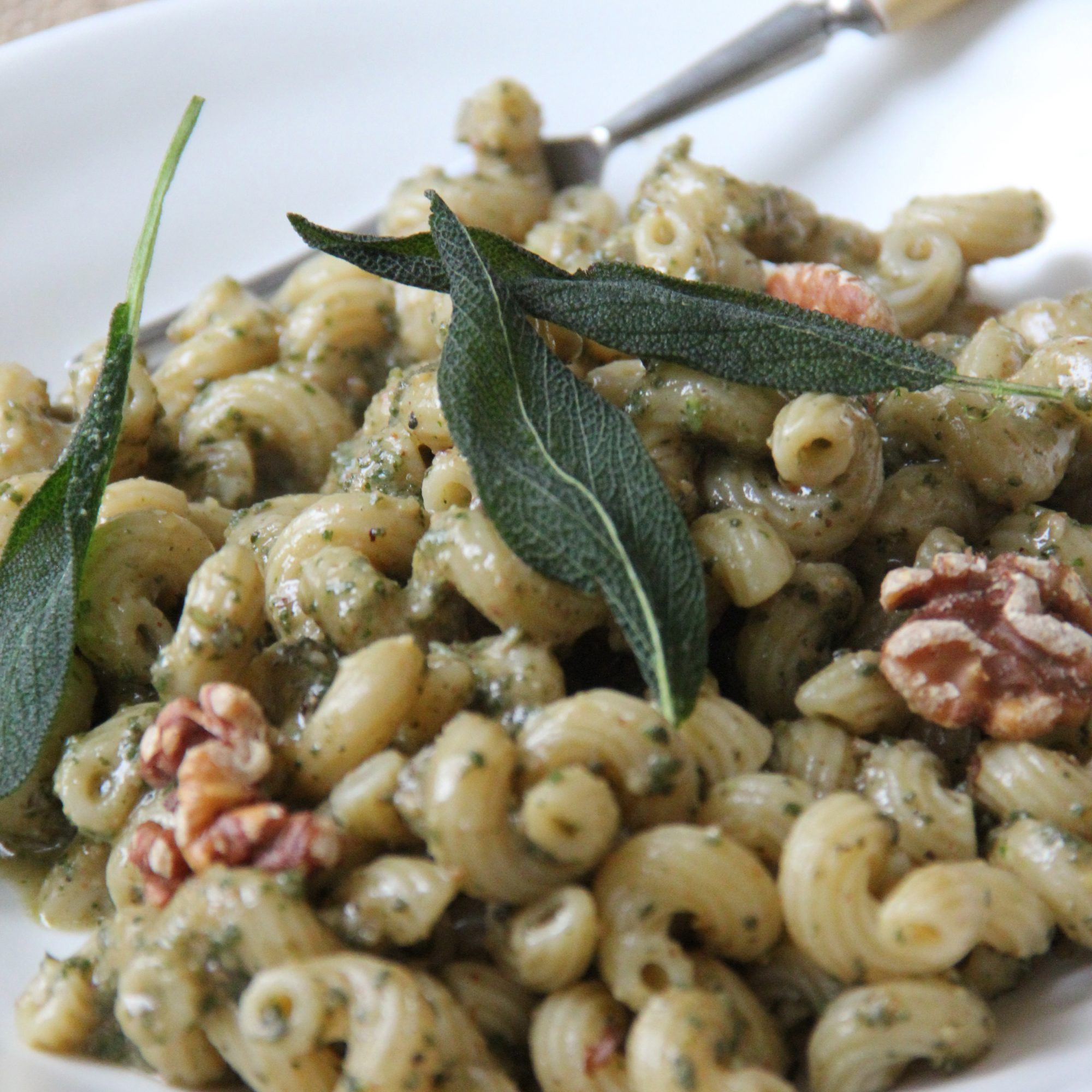 Sage-Walnut Pesto Pasta Recipe - Ian Knauer | Food & Wine