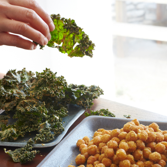 Kale Chips with Almond Butter and Miso