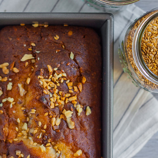 Banana-Walnut Bread with Flax