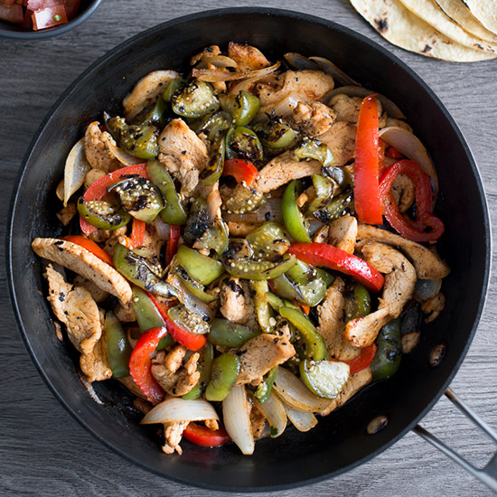 Chicken Fajitas with Tomatillos
