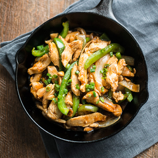 Maple-Bourbon Chicken Fajitas