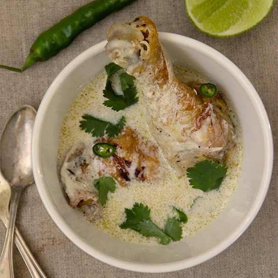 Thai Coconut Braised Chicken Legs