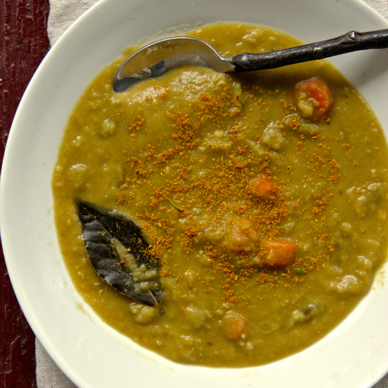 Indian Spiced Split Pea Soup