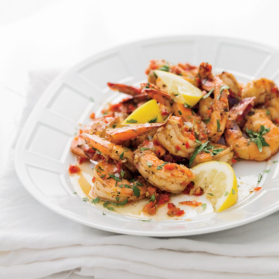 Creole Shrimp with Garlic and Lemon