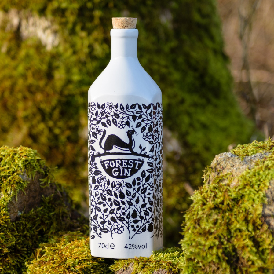 Forest Gin Porcelain Bottle
