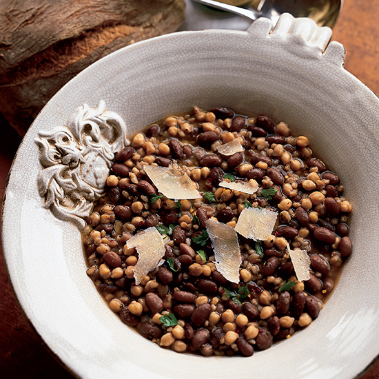 Farro, Bean and Chickpea Soup