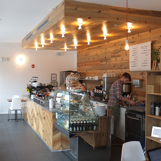 Hybrid coffee shops food wine for Quirky shopping sites