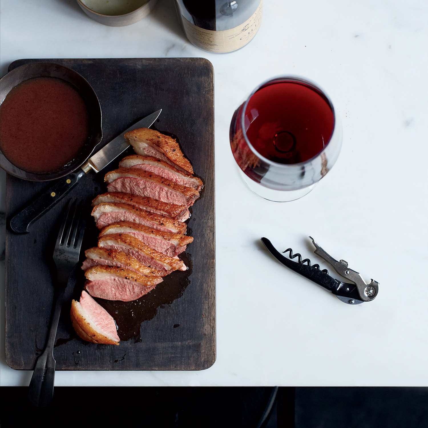 Seared Duck with Date Jus and Plave Foam