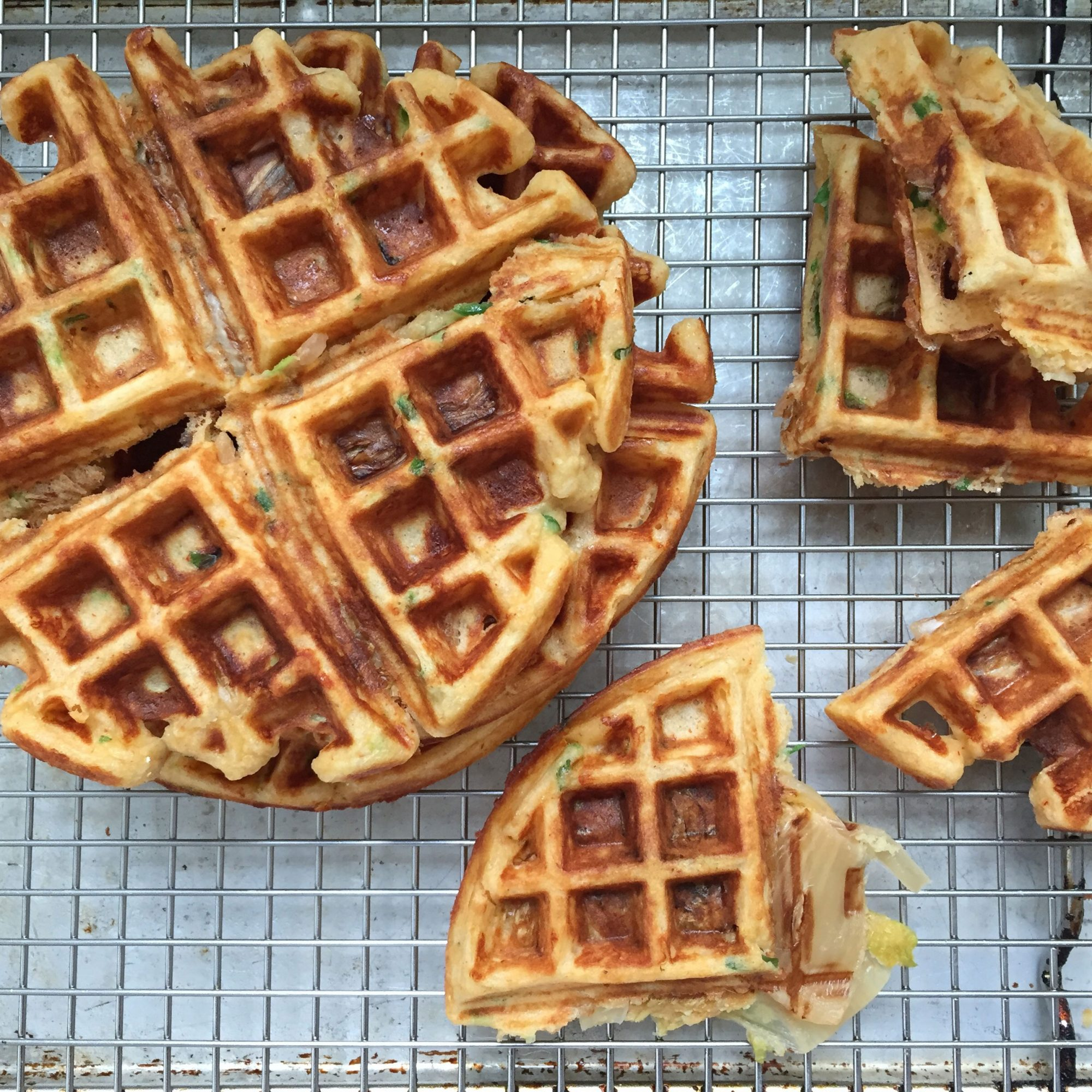 How to Make Kimchi-Cheddar Waffles
